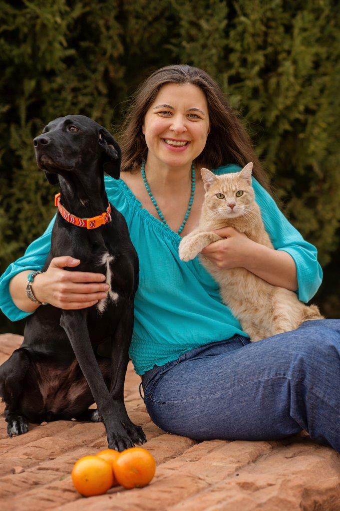 olga goddard with her animals
